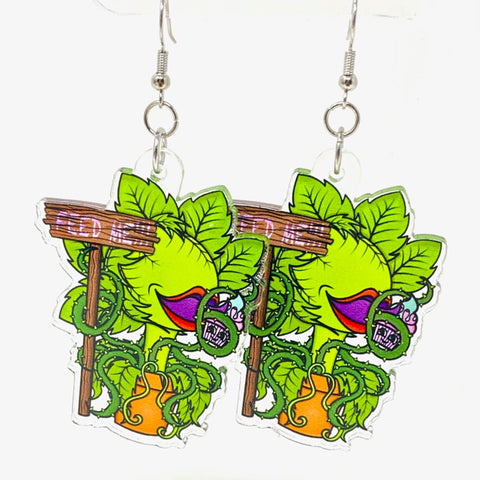 Feed Me Acrylic Earrings