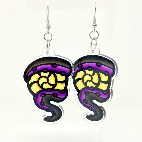 Tentacle Acrylic Earrings