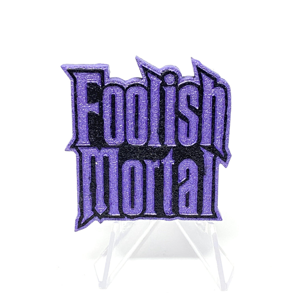 Foolish Mortal (Wood Pin) - Shimmer Lavender/Black