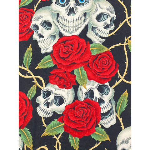 Face Mask - Roses and Skulls