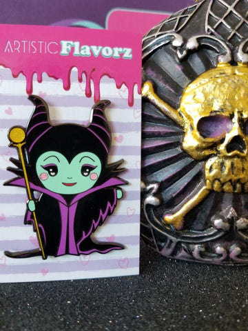 Maleficent Enamel Pin (Chibi Kawaii)
