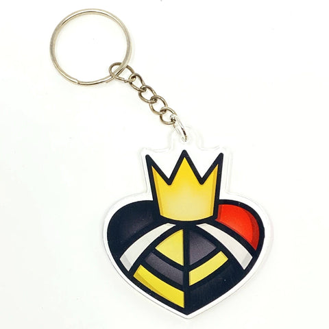 Queen of Hearts Acrylic Keychain | Acrylic Keychains Artistic FlavorzArtistic Flavorz
