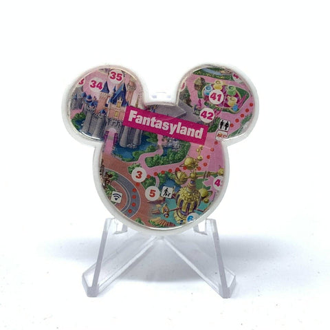 Mouse Map Acrylic Brooch - Fantasyland Castle Map