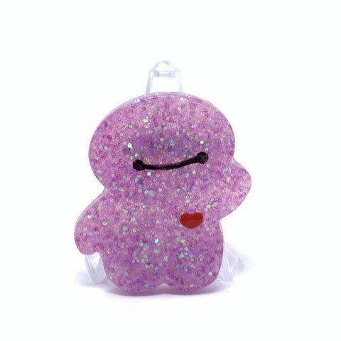 Resin Pin - Purple Iridescent Glitter Baymax