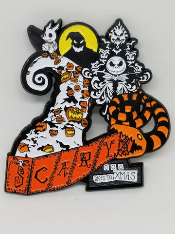 Haunted Nightmare Before Christmas D Enamel Pin