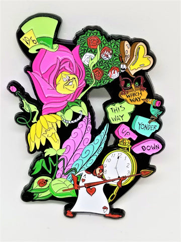 Wonderland D Enamel Pin