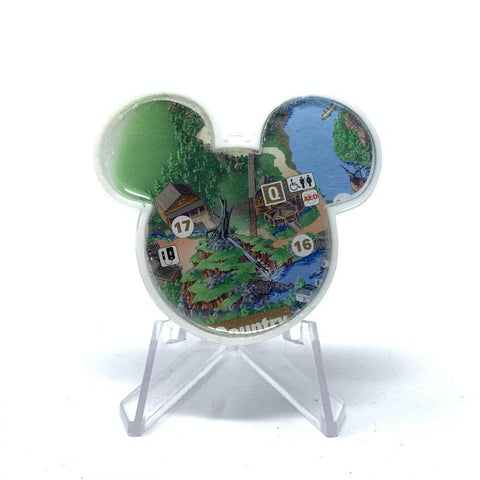 Mouse Map Acrylic Brooch - Splash Mountain Map