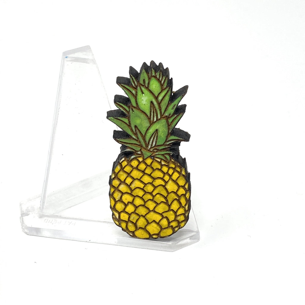 Pineapple Brooch (Wood Pin)