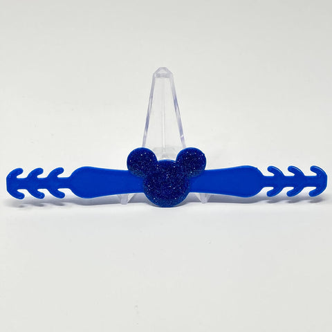 Embellished Mouse Ear Saver - Blue/Blue Glitter