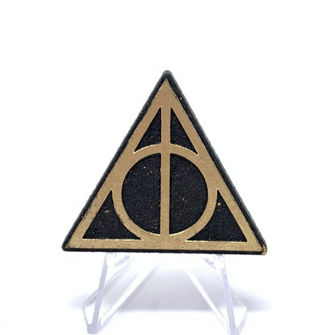 Deathly Hallows (Wood Pin) - Black/Gold Foil