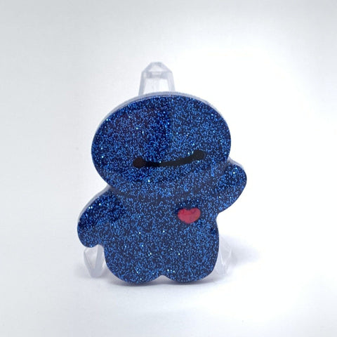 Resin Pin - Blue Glitter Baymax