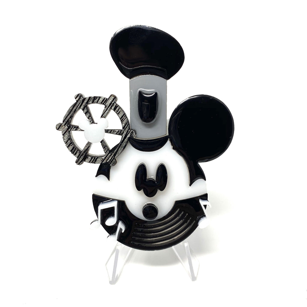 Steamboat Willie Acrylic Character Brooch