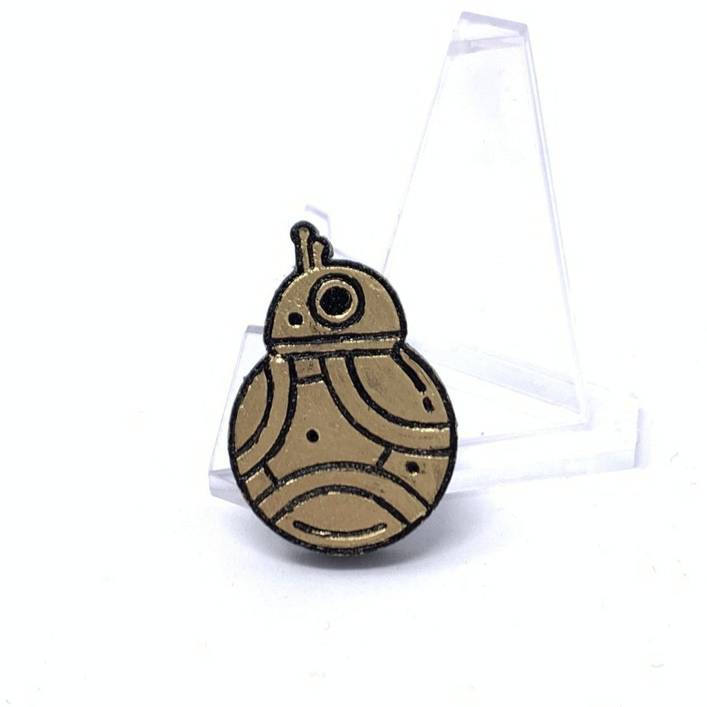 Small BB-8 (Wood Pin) - Gold Foil