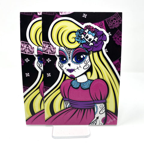 Day of the Dead Alice 4x6 Postcard | Postcards Artistic FlavorzArtistic Flavorz