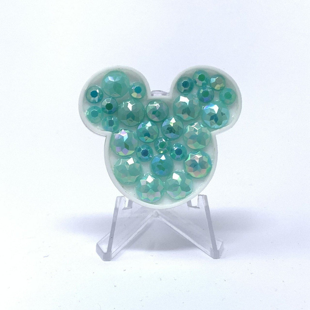 Mouse Acrylic Brooch - Mint Stones