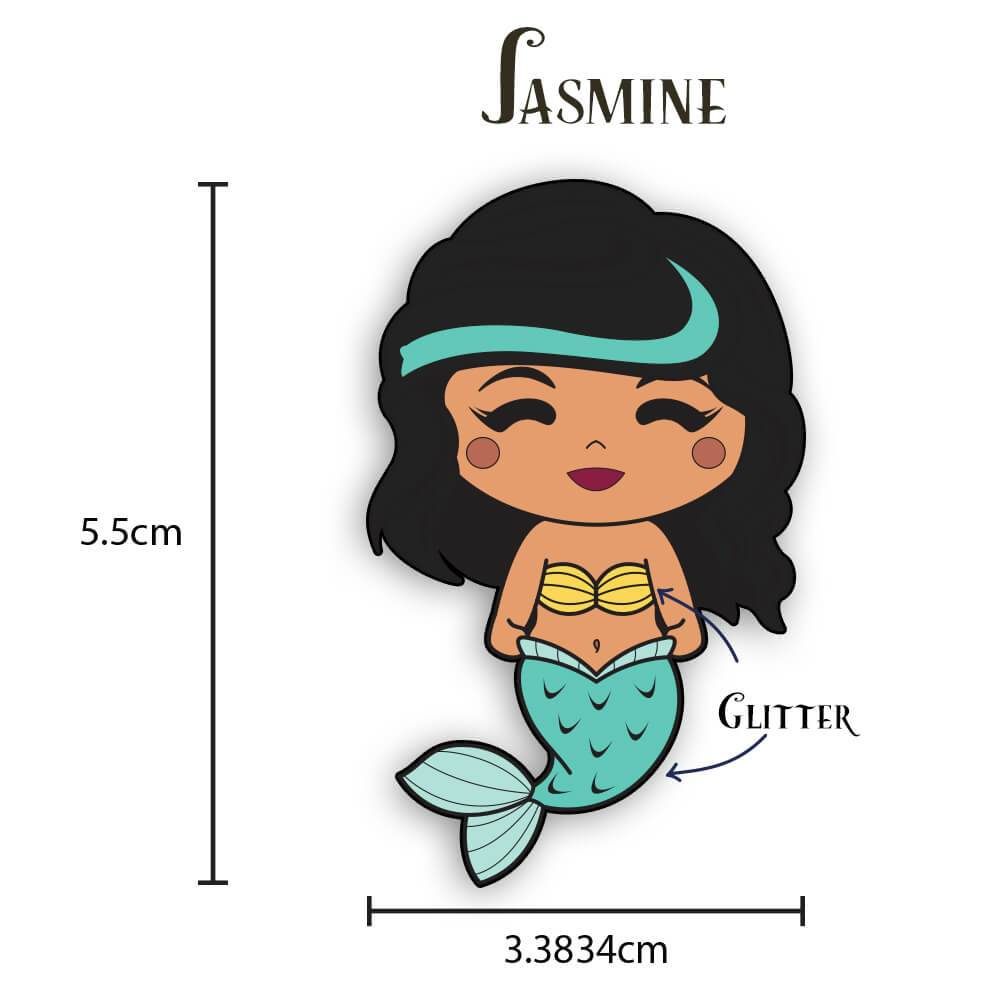 Jasmine Mermaid Enamel Pin