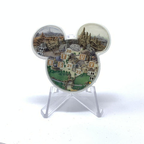 Mouse Map Acrylic Brooch - Galaxy's Edge