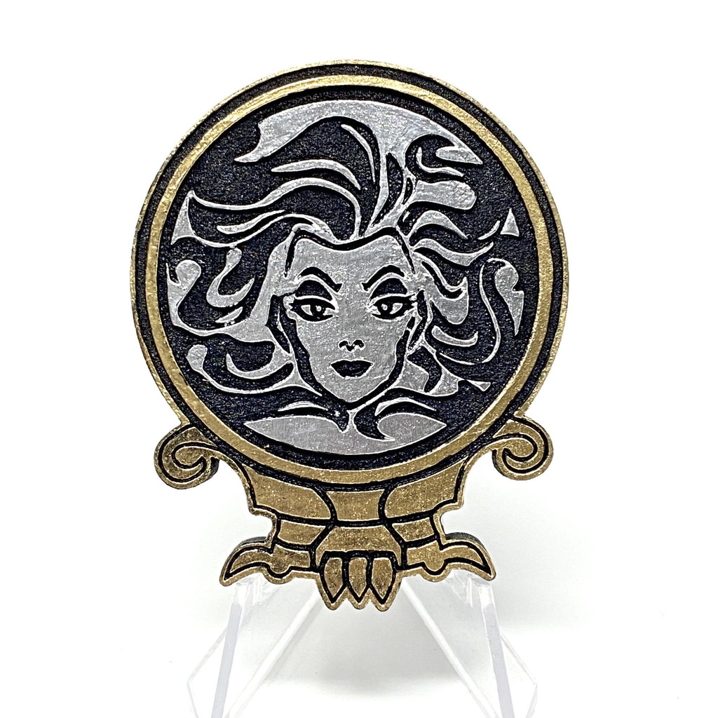 Madame Leota (Wood Pin) - Black/Gold/Silver