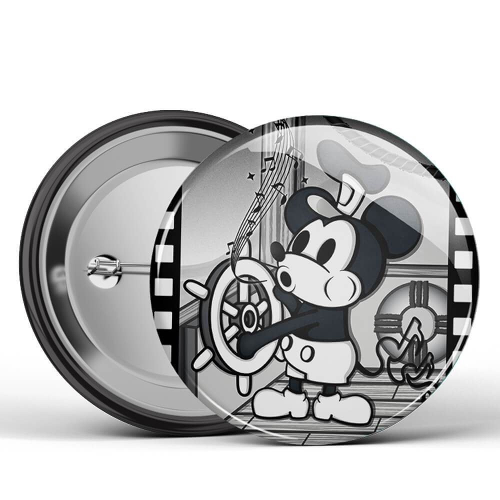 Steamboat Willie Large Button