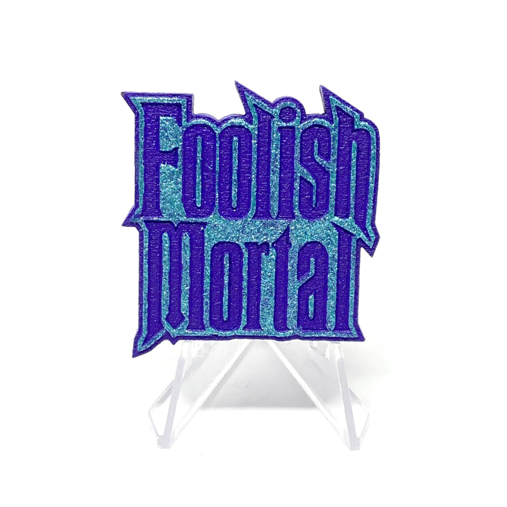 Foolish Mortal (Wood Pin) - Shimmer Turq/Purple