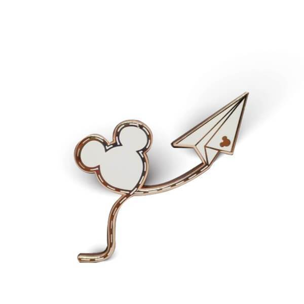 It All Started with a Mouse Enamel Pin | Rose Gold/White