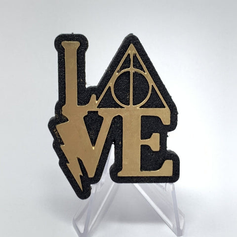 HP Love (Wood Pin) - Gold Foil/Bk