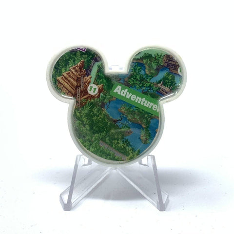 Mouse Map Acrylic Brooch - Jungle Cruise Map