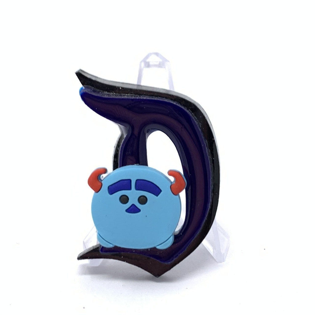 Resin D Pin - Dbl Layer Black and Blue Sulley