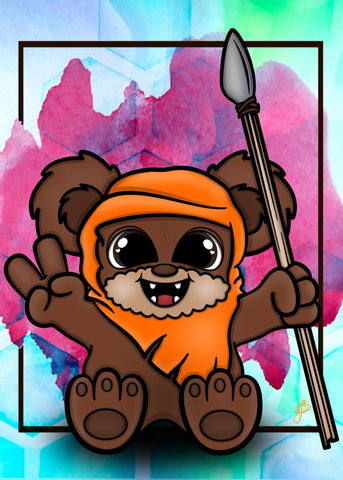 Ewok - 5x7 Art Print by Jo2