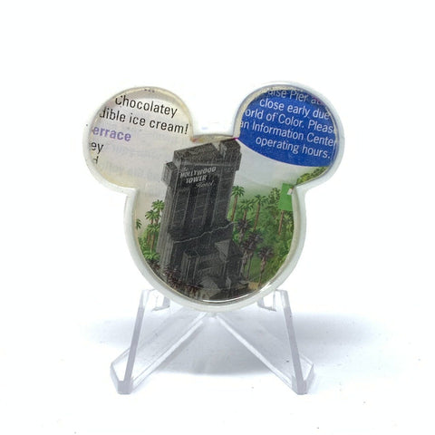 Mouse Map Acrylic Brooch - Tower of Terror Map