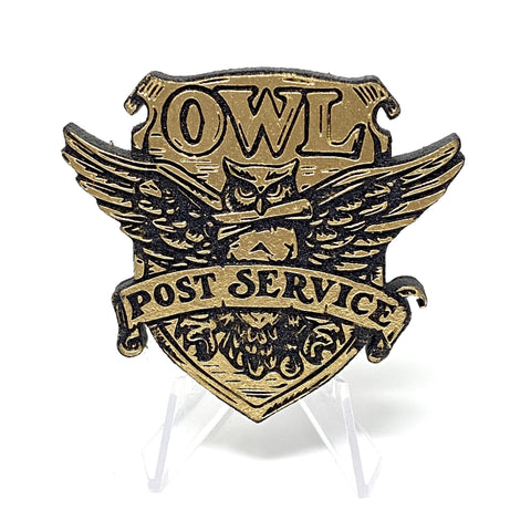Owl Post (Wood Pin) - Gold