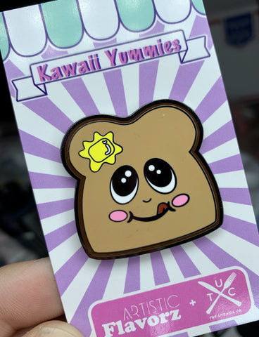 Toast Enamel Pin (Kawaii Yummies)