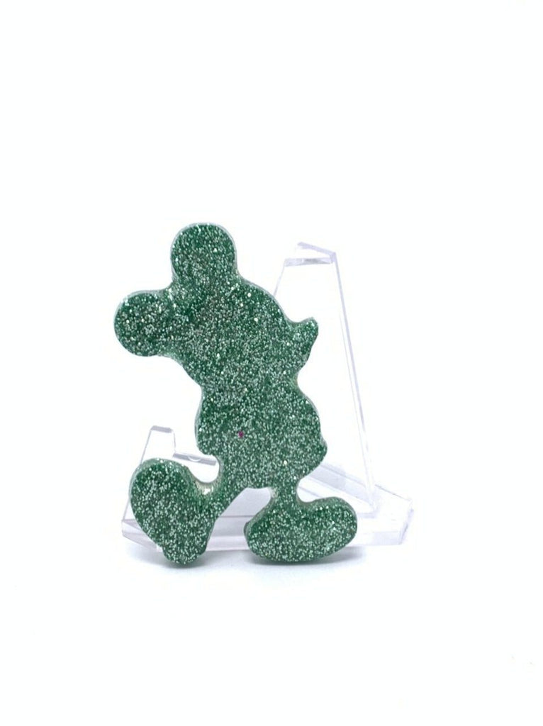 Resin Pin - Mint Glitter Silhouette
