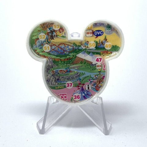 Mouse Map Acrylic Brooch - Casey Jr Map