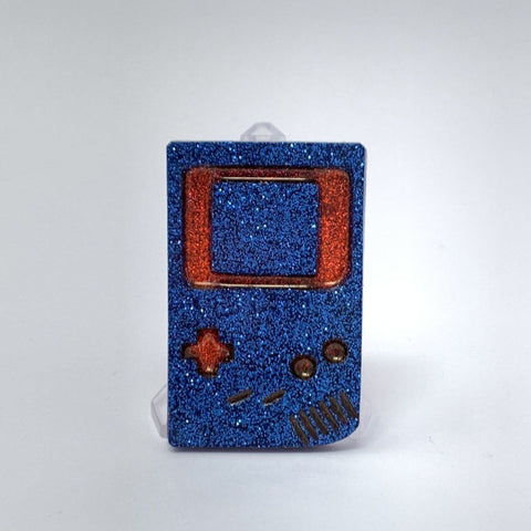 Resin Pin - Gameboy Blue and Red
