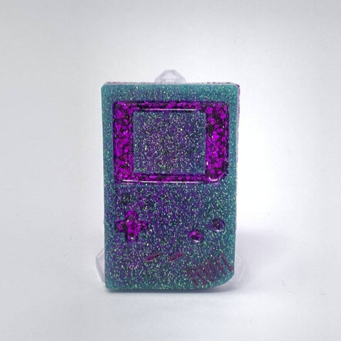 Resin Pin - Gameboy Purple and Turq