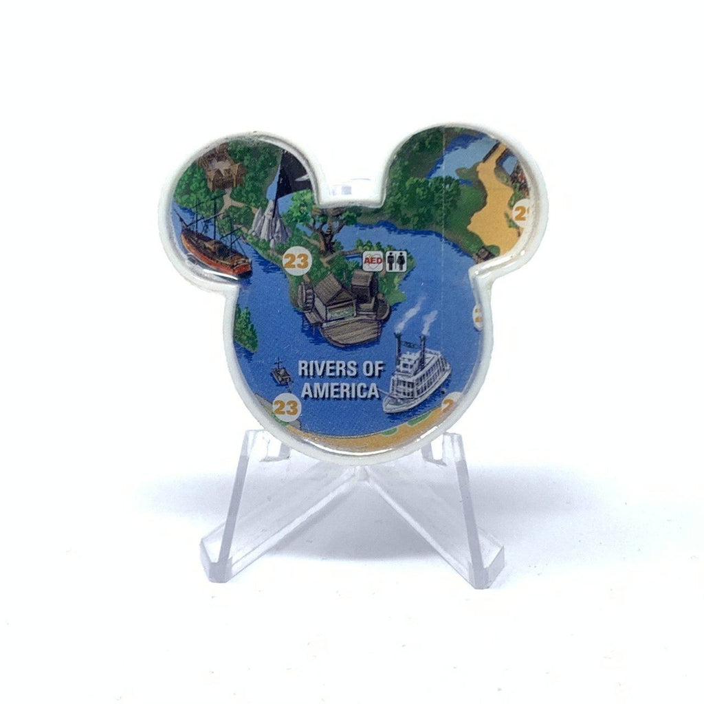 Mouse Map Acrylic Brooch - Rivers of America