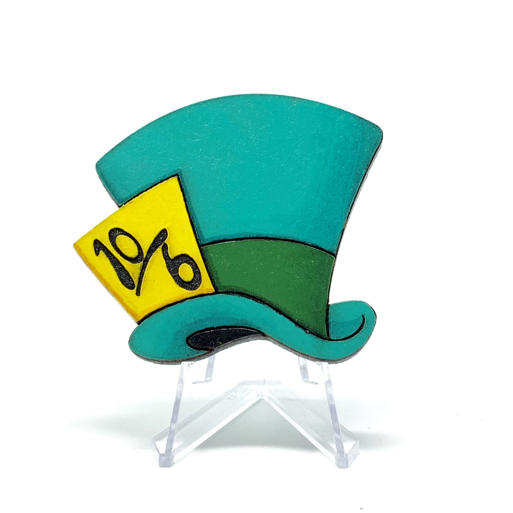 Mad Hatter Hat (Wood Pin)