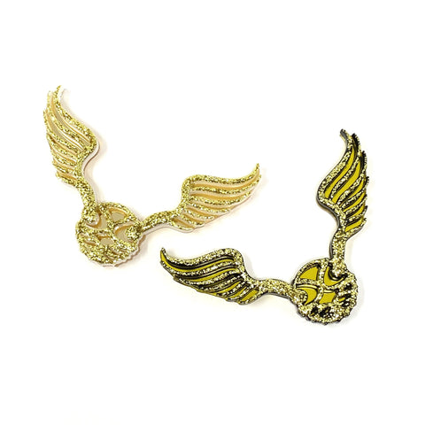 Golden Flyers Acrylic Brooches