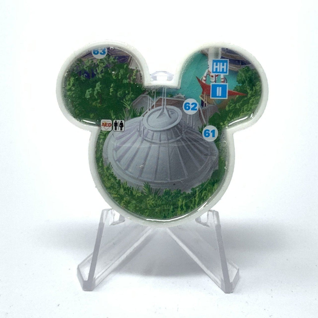 Mouse Map Acrylic Brooch - Space Mountain Map