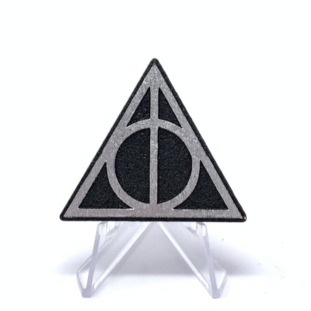 Deathly Hallows (Wood Pin) - Black/Silver Foil