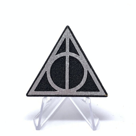 Deathly Hallows (Wood Pin) - Black/Silver Foil | Wood Pins Artistic FlavorzArtistic Flavorz