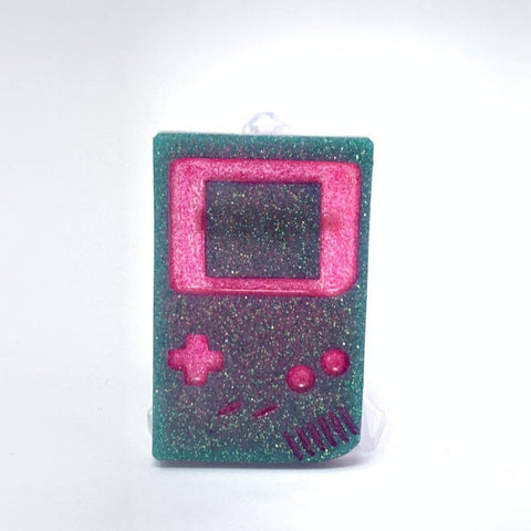 Resin Pin - Gameboy Pink and Turq