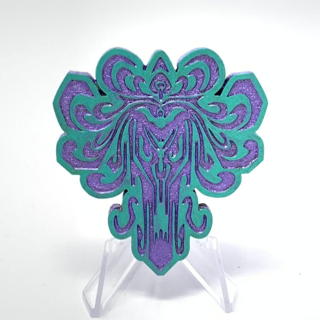 HM Wallpaper (Wood Pin) - Solid Mint/Shimmer Purple