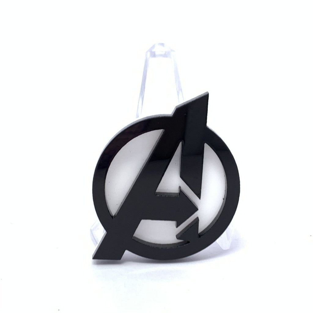 Acrylic Brooch - A Logo - Black and White