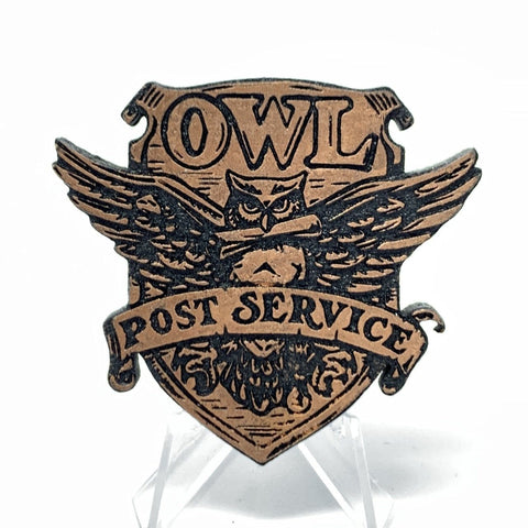 Owl Post (Wood Pin) - Bronze