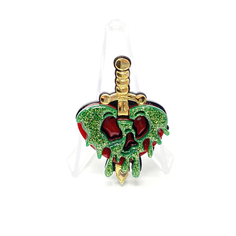 Evil Queen Poison Heart Apple Dagger Acrylic Brooch | Acrylic Pins Artistic FlavorzArtistic Flavorz