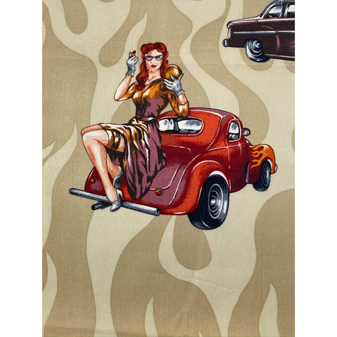 Face Mask - Car Pinup