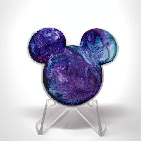 Mouse Acrylic/Resin Brooch - Purple Blue Swirl | Acrylic Pins Artistic FlavorzSuperfluous Designs