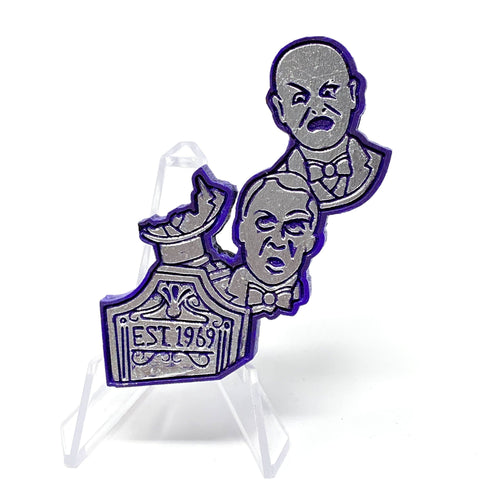 Singing Tombstone Heads (Wood Pin) - Purple/Silver | Wood Pins Artistic FlavorzArtistic Flavorz